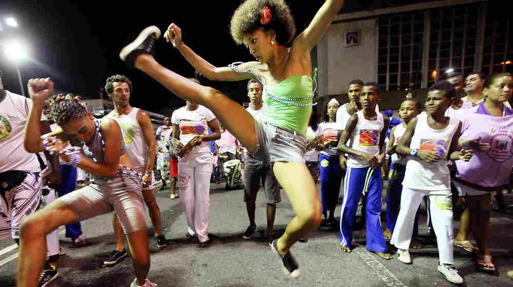 Brazilians perform capoeira on the first day of Carnival celebrations on Feb. 16, 2012, in Salvador, Brazil. Capoeira is a Brazilian martial art and dance form that was developed by slaves in the region.