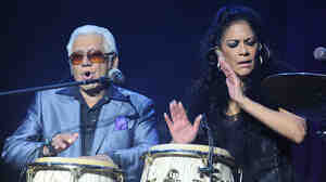 Percussionist Pete Escovedo and his daughter Sheila E. perform together in Rome in 2013.