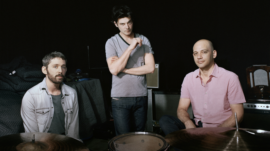The Antlers (from left): Peter Silberman, Darby Cicci and Michael Lerner. (Courtesy of the artist)