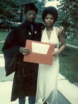 Sylvester Monroe and ex-wife Regina at his graduation.