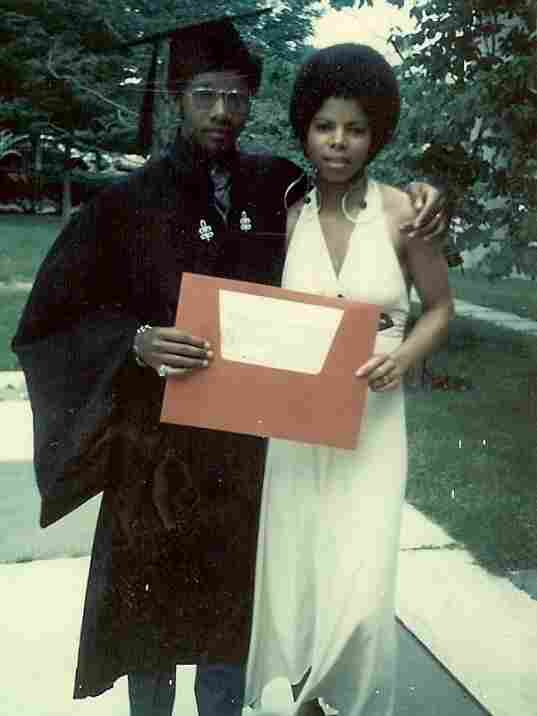 Sylvester Monroe and ex-wife Regina at his graduation.