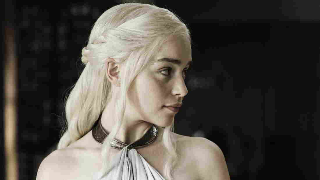 Emilia Clarke as this beautiful blonde lady who may or may not one day be murdered on HBO's Game of Thrones. If she is, Twitter will tell you.
