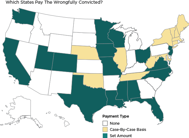 Which States Pay The Wrongfully Convicted?