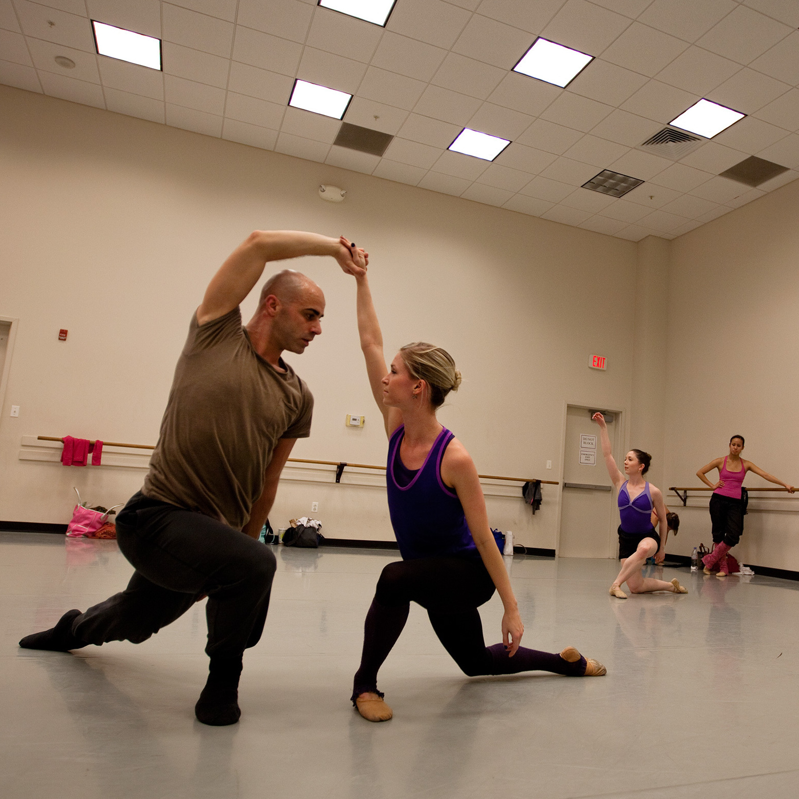 Dancers with the Bowen McCauley Dance company rehearse.