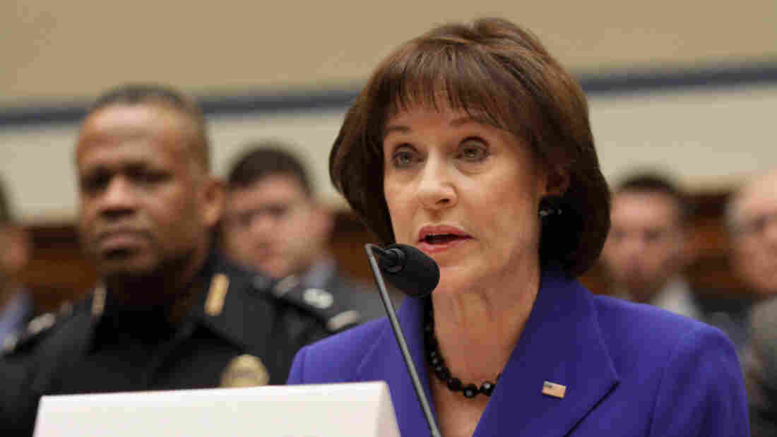 Former Internal Revenue Service official Lois Lerner speaks March 5 on Capitol Hill during the House Oversight and Government Reform Committee hearing on the the agency's targeting of Tea Party groups.