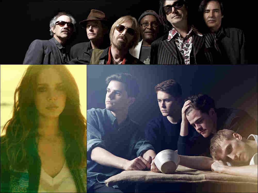 Clockwise from top: Tom Petty & The Heartbreakers, Adult Jazz, Lana Del Rey