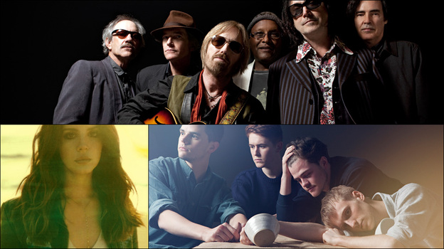 Clockwise from top: Tom Petty & The Heartbreakers, Adult Jazz, Lana Del Rey (Courtesy of the artists)