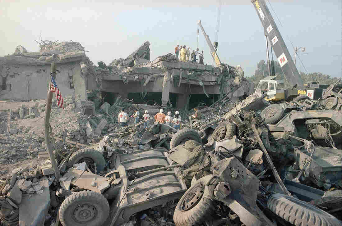 A 1983 suicide truck bombing, believed to be the work of Hezbollah, devastated the U.S. Marine barracks in Beirut.