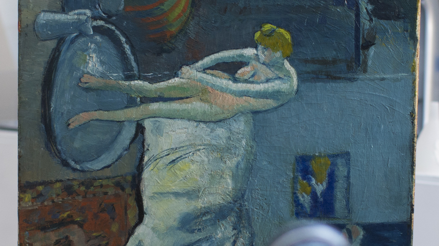 Man Emerges From Picasso\'s Painting \'The Blue Room\' : The Two-Way : NPR