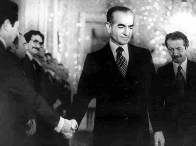 Mohammad Reza Pahlavi, who succeeded his father as shah, reigned from 1941 to 1979. He's shown here shaking hands with a government minister days before leaving Iran in 1979.