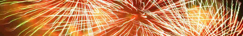 Fireworks in Victoria Park.
