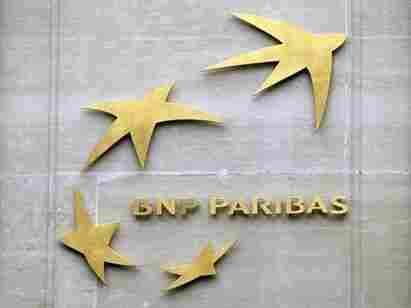 BNP Paribas' logo at its headquarters in Paris, France.