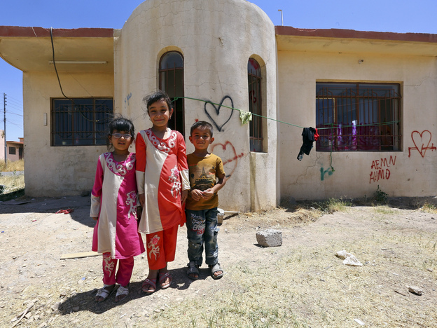 More than 2,000 people from Mosul have fled to Al-Qosh — among them, only about 40 Christian families, a sign of how few Christians are left in Mosul.