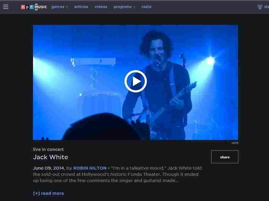 The new NPR Music video experience.