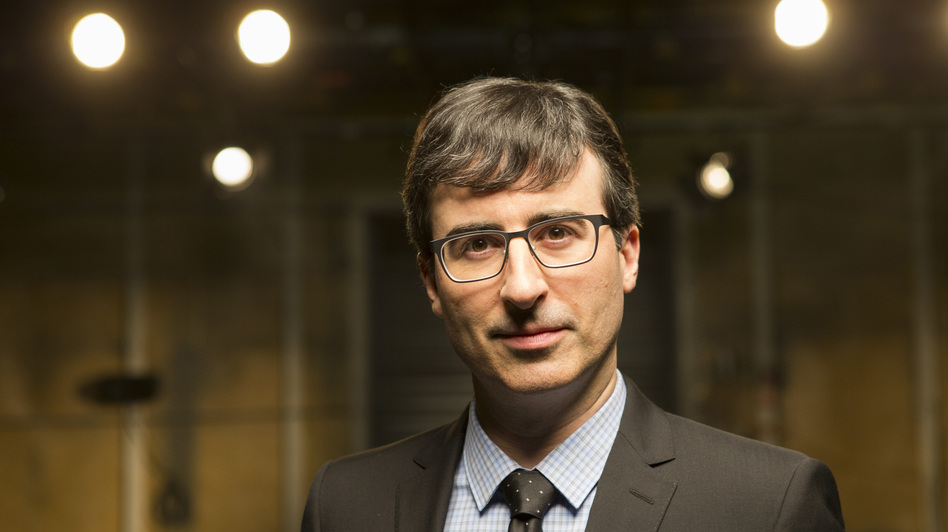 """John Oliver's new political satire <em>Last Week Tonight</em> airs on HBO. Oliver says the network gives him an almost """"confusing amount of freedom."""" (Eric Liebowitz/Courtesy of HBO)"""