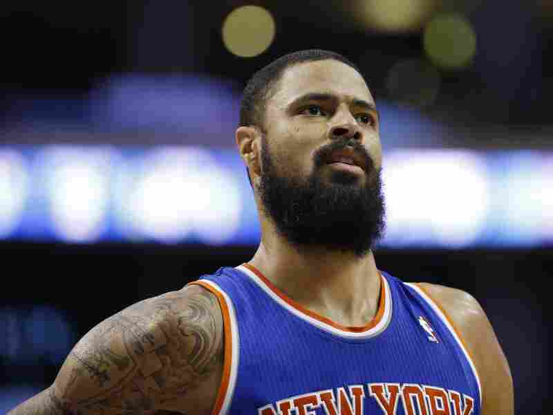 With time, New York Knicks' Tyson Chandler has crossed out the words in his tattoo.