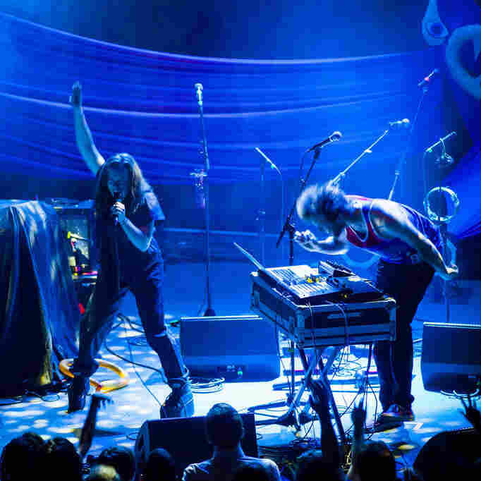 Sylvan Esso, performing live at the 9:30 Club in Washington, D.C. on June 13, 2014.