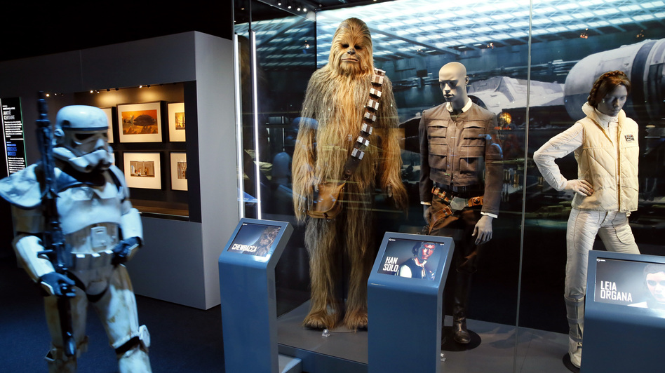"""While cities are still competing for the not yet built Lucas Cultural Arts Museum, parts of the collection are already on display. The """"Star Wars Identities"""" traveling exhibition, currently at the Cite du Cinema in Saint-Denis, France, features 200 objects from George Lucas' collection — including the costumes of Chewbacca, Han Solo and Princess Leia Organa."""