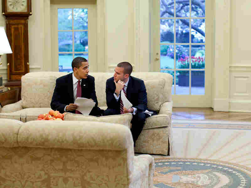President Obama and his director of speechwriting, Jon Favreau, in 2009.