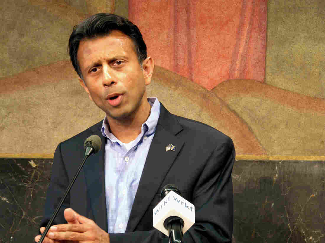 Louisiana Gov. Bobby Jindal announces his plan to remove Louisiana from tests associated with the Common Core.