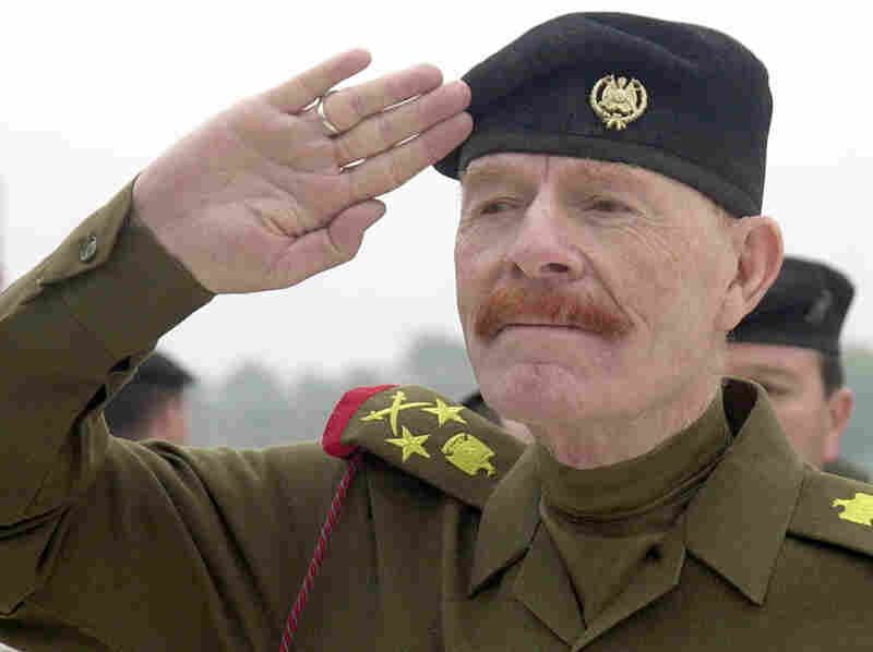 Izzat Ibrahim al-Douri, a former member of Saddam Hussein's inner circle (shown here in 2002), leads one of the Sunni armed factions helping ISIS in its fight against the Iraqi government.