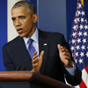 President Obama speaks about Iraq in the Brady Briefing room of the White House Thursday. Obama said the U.S. will send up to 300 military advisers to Iraq — but that U.S. forces won't engage in combat with Islamic State in Iraq and Syria (ISIS) militants.