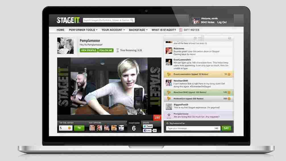 Stageit and another startup, Concert Window, have made it easy to play online shows — and make money doing it.