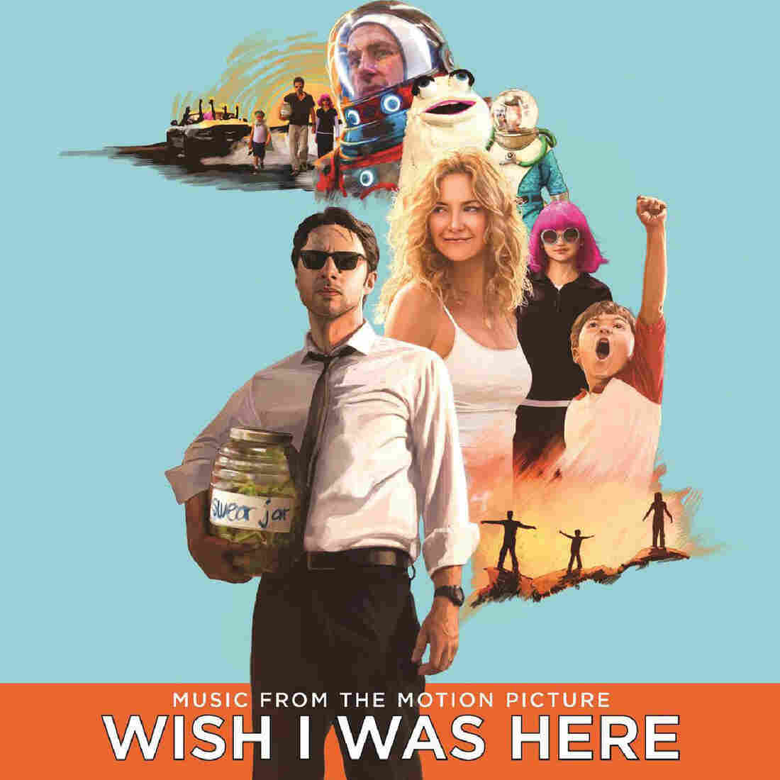 """The soundtrack album art for the film """"Wish I Was Here"""""""