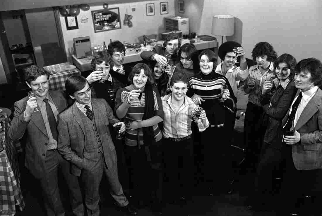 "The men and women from the ""Up"" series pictured in their 20s. Nick Hitchon is on the far right."