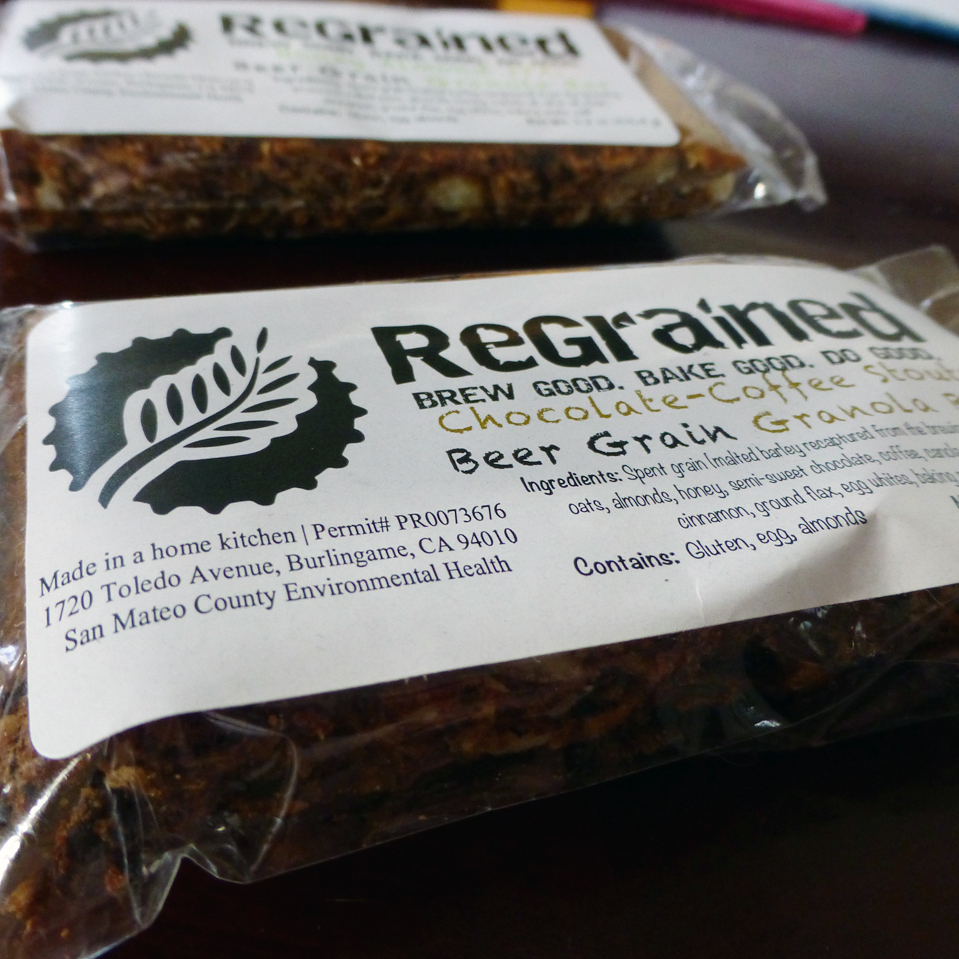 San Francisco's ReGrained makes granola bars from local breweries' leftover grain.