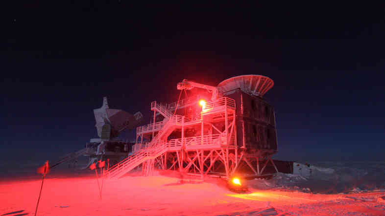 The BICEP2 telescope in Antarctica was looking for ripples from the Big Bang.