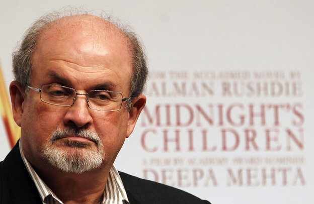 "Author Salman Rushdie, seen in January 2013, was also lauded by the judges for ""his countless private acts of kindness."""