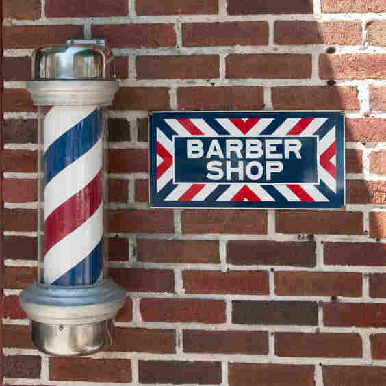 A barbershop pole.