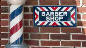 A barbershop pole.