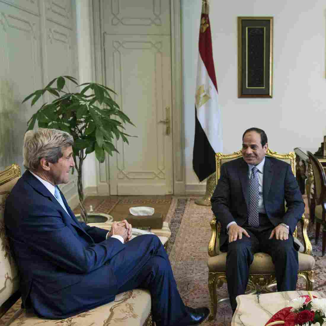 In Cairo, Kerry Says U.S. Is Not Responsible For Iraq's Current Crisis