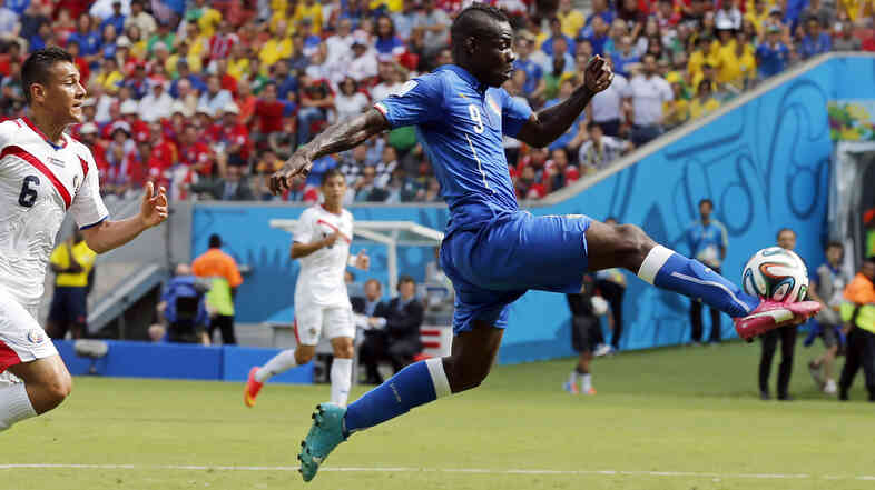 Italy's Mario Balotelli sports Puma's new evoPOWER Tricks cleats.