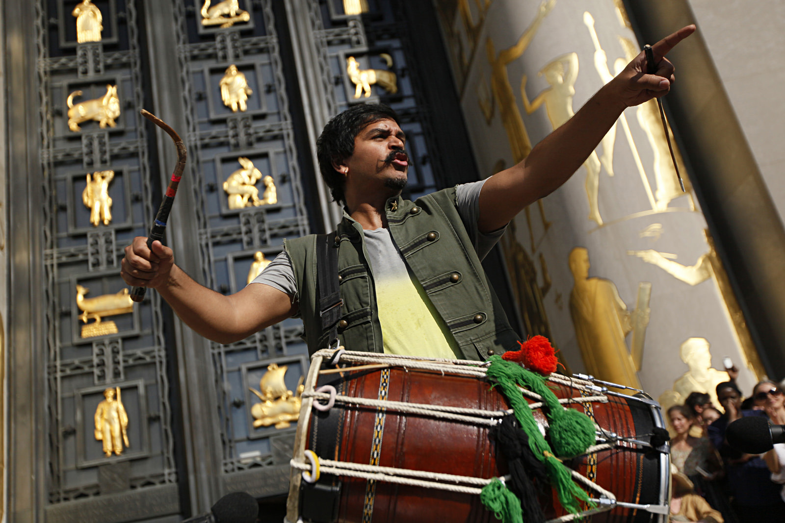 Dhol drummer and composer Sunny Jain wrote 100+ BPM for this occasion, bringing in the signature sounds that fuel his band Red Baraat -- a riotous mix of Punjabi bhangra, funk and jazz.