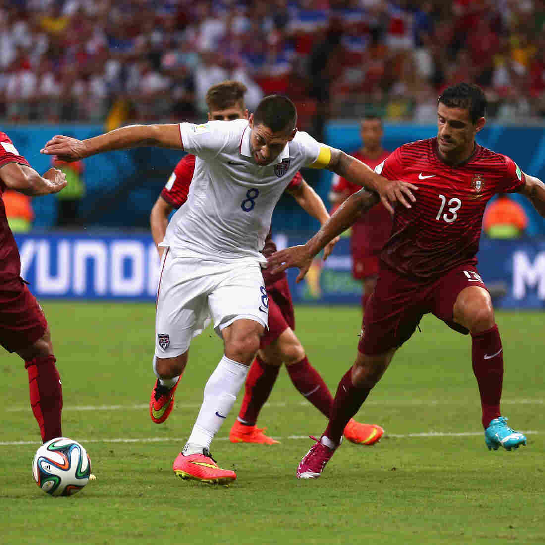 In A Stunning Finish, Portugal Ties U.S.