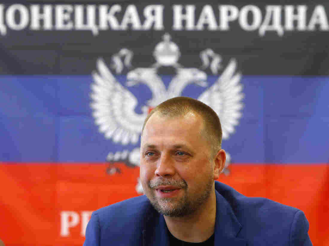 """Alexander Borodai, the prime minister of the self-proclaimed """"Donetsk People's Republic,"""" attends a news conference in Donetsk on June 21. Borodai announced Monday that his forces would honor a temporary Ukrainian cease-fire."""