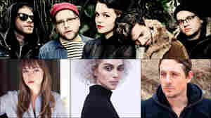 Top row: Nothing; Middle row, left to right: St. Vincent, Angel Olsen, Sturgill Simpson; Bottom: Perfect Pussy's Meredith Graves
