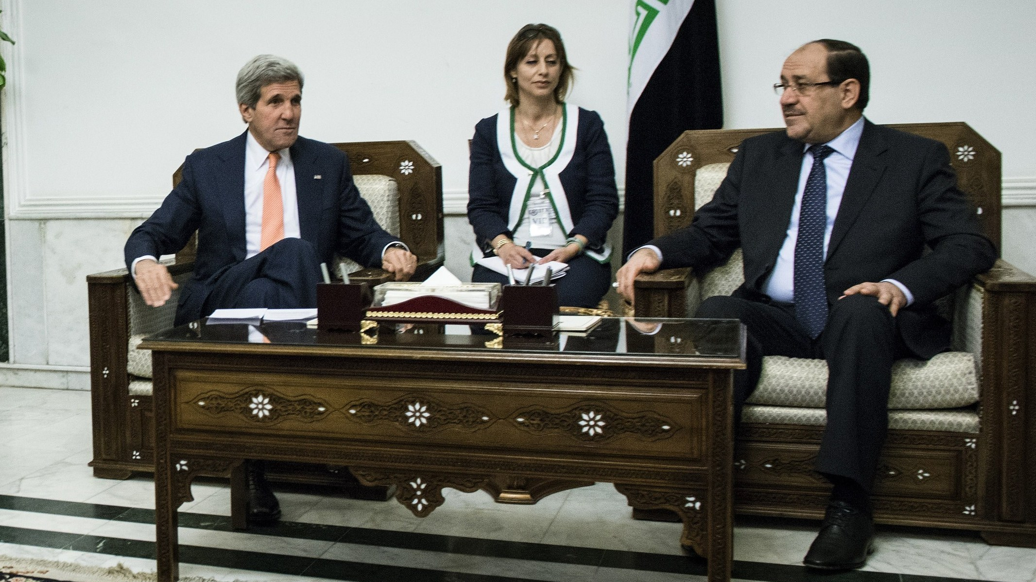 Kerry Meets With Iraqi Prime Minister In Baghdad Amid ISIS Crisis