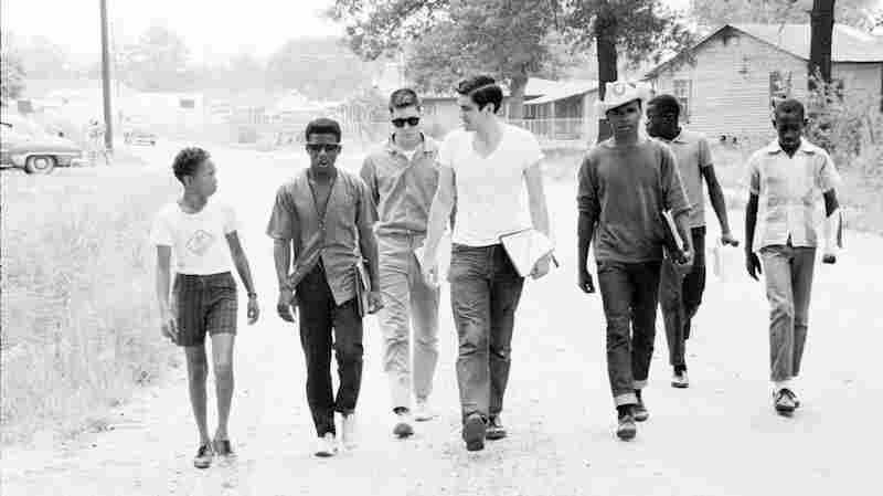 Freedom Summer volunteers and locals canvass in Mississippi in 1964 to get black people to the polls.