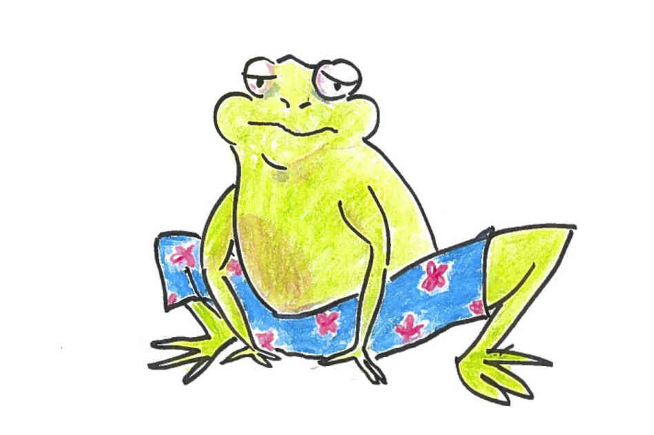 "Spallanzani designed ""tight taffeta pants"" for the male frogs."