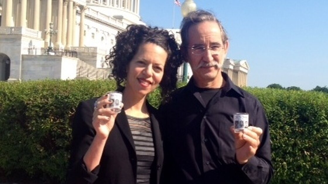 David Goodman and Stosh Cotler of Bend the Arc at the U.S. Capitol.