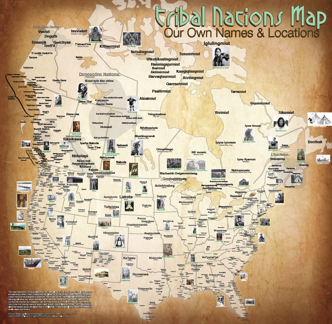 Native American Reservation In Canada Map The Map Of Native American Tribes You've Never Seen Before : Code