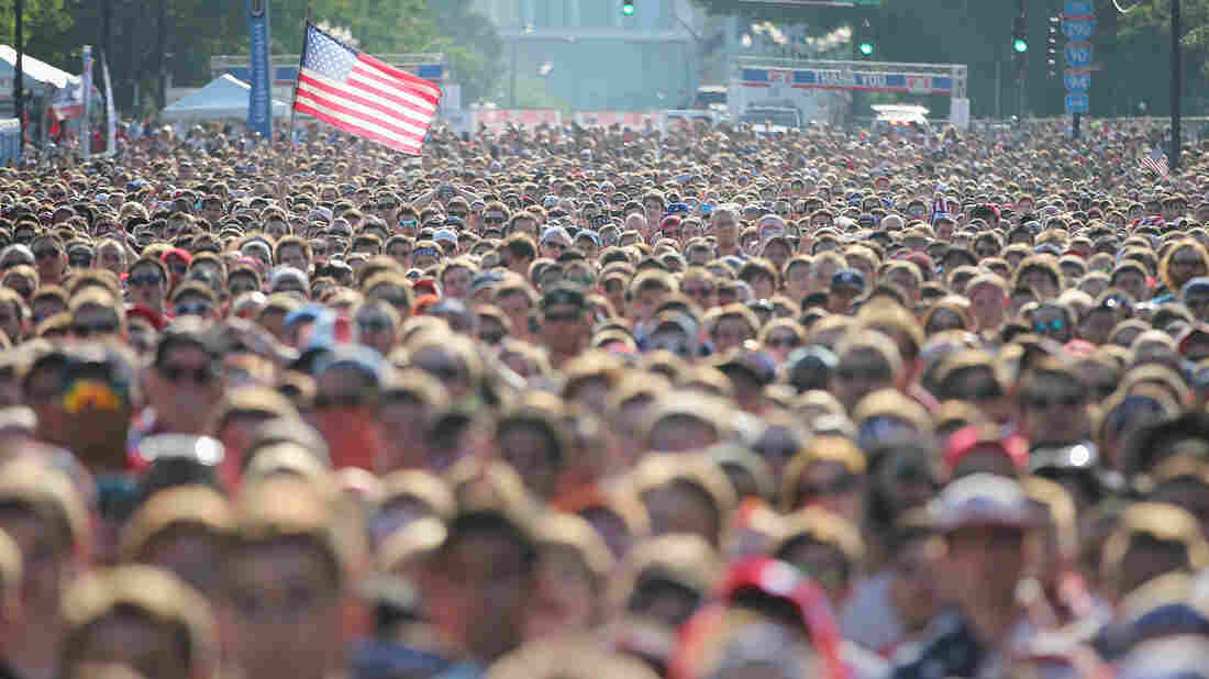 Fans gather in Chicago's Grant Park to watch the U.S. play Portugal Sunday — a game that set a new ratings record for soccer on ESPN.