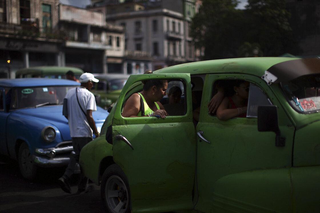 15: Green VW bug