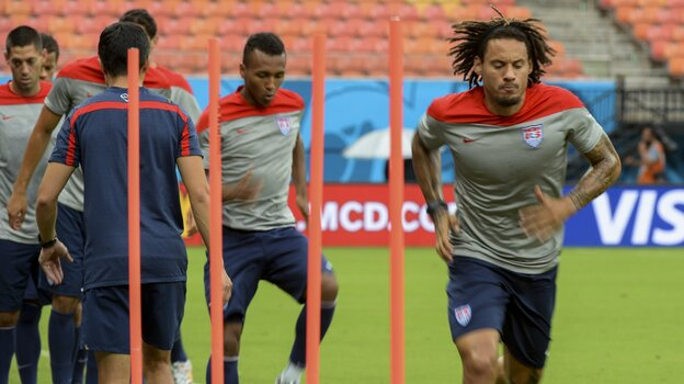 Jermaine Jones and other members of the