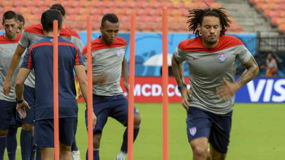 Jermaine Jones and other members of the U.S. men's national team train in Manaus, Brazil. Fitness may be a crucial factor in the U.S.-Germany game on Thursday in Recife .