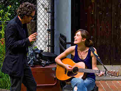 After hearing Greta singing in a New York City bar, Dan, a record label executive played by Mark Ruffalo in Begin Again, helps her record her first big album.